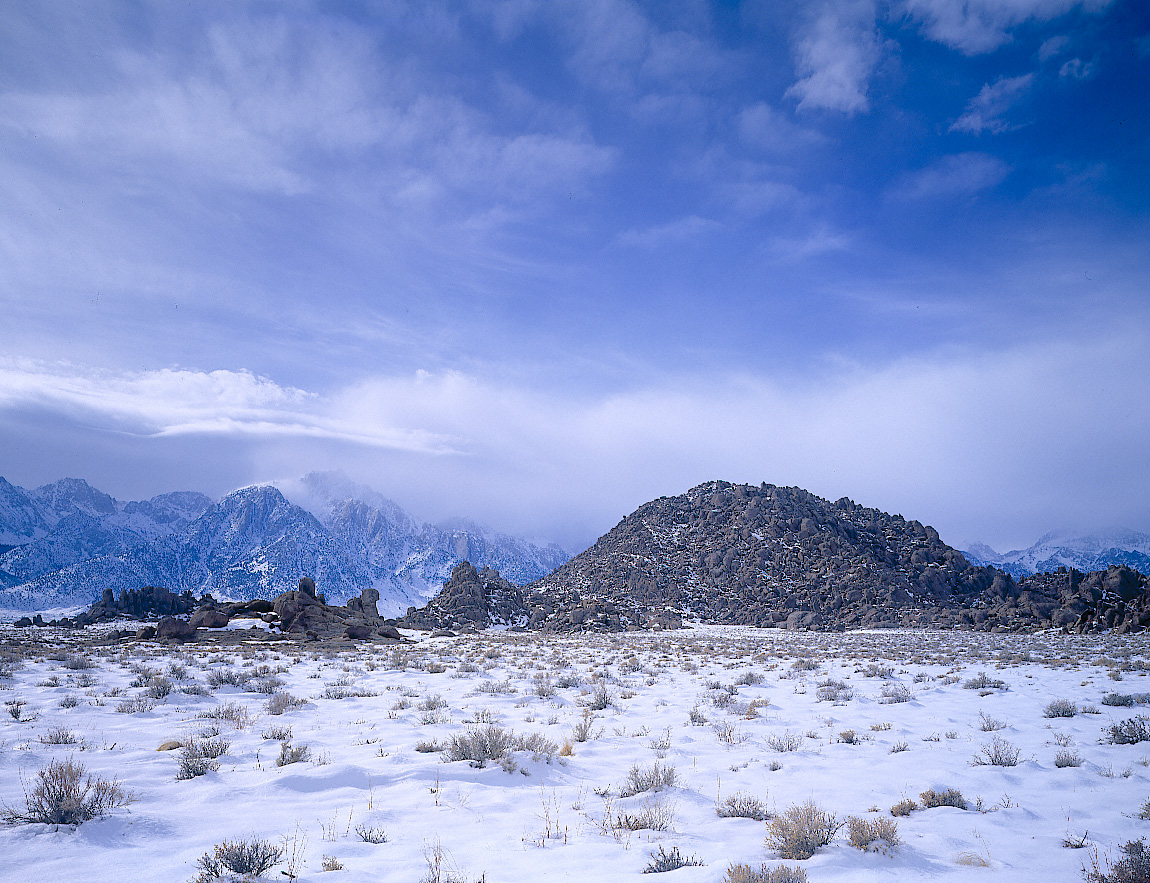 Lone Pine Peak from the Alabama Hills, Approaching Winter Storm, Lone Pine, California