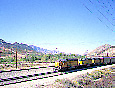 Union Pacific Train on the BNSF track at Cajon Junction, California