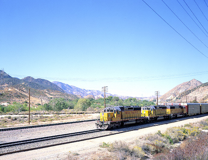 Union Pacific Train on the BNSF Track, Cajon