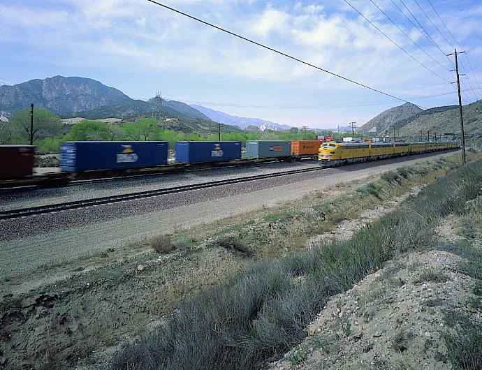 Union Pacific Passenger Train on the BNSF Track, Cajon